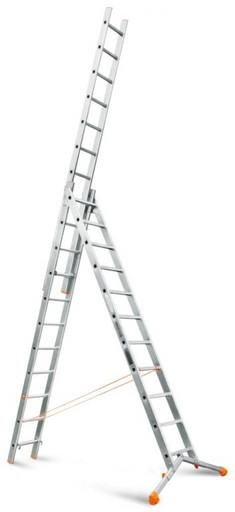 Лестница трехсекционная индустриального ресурса Ювелир 3х11 «Эйфель»