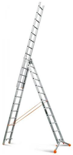 Лестница трехсекционная индустриального ресурса Ювелир 3х12 «Эйфель»