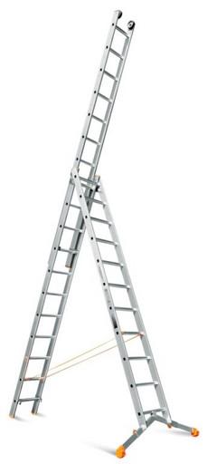 Трехсекционная лестница индустриального ресурса Ювелир Плюс 3х11 «Эйфель»
