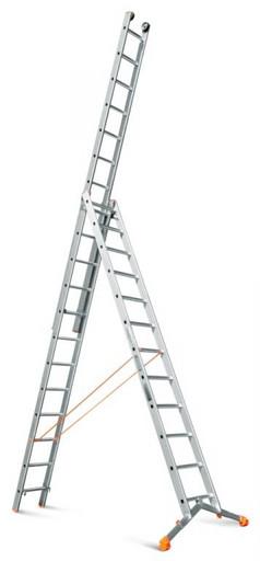 Трехсекционная лестница индустриального ресурса Ювелир Плюс 3х12 «Эйфель»