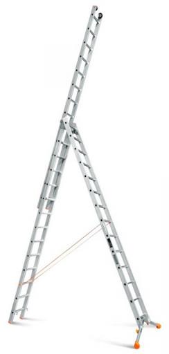 Трехсекционная лестница индустриального ресурса Ювелир Плюс 3х14 «Эйфель»
