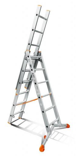 Лестница трехсекционная индустриального ресурса Ювелир 3х6 «Эйфель»