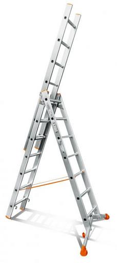 Лестница трехсекционная индустриального ресурса Ювелир 3х7 «Эйфель»