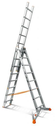 Лестница трехсекционная индустриального ресурса Ювелир 3х8 «Эйфель»