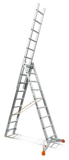 Лестница трехсекционная индустриального ресурса Ювелир 3х9 «Эйфель»