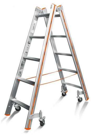 Лестница-стремянка двусторонняя Комфорт-Профи 205 Роллер «Эйфель»