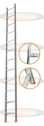 Приставная лестница Комфорт-Профи 12 ст. «Эйфель»