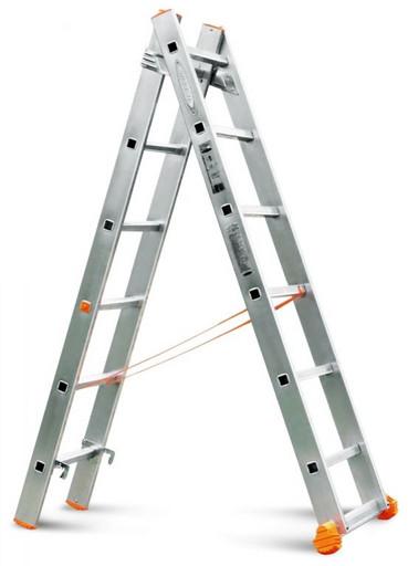 Двухсекционная лестница Классик 2х6 «Эйфель»