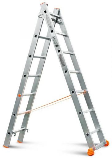 Двухсекционная лестница Классик 2х7 «Эйфель»