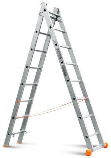 Двухсекционная лестница Классик 2х8 «Эйфель»