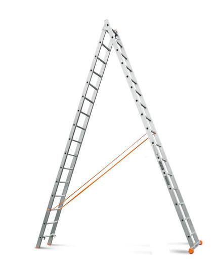 Двухсекционная лестница Классик 2х18 «Эйфель»