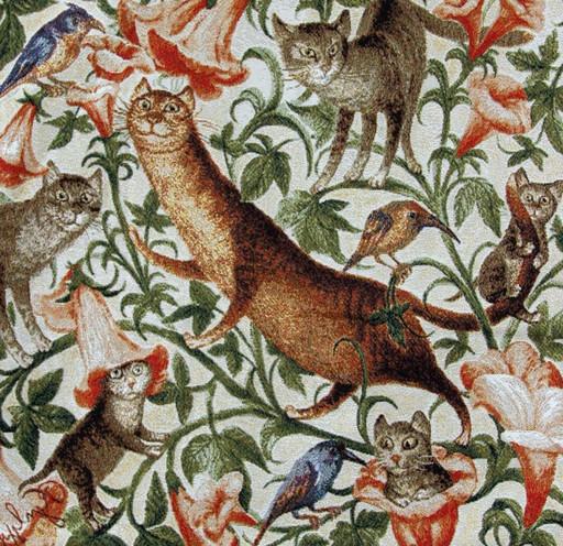 Гуляние котов налево - наволочка гобеленовая