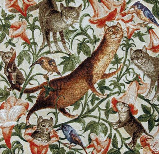 Гуляние котов направо - наволочка гобеленовая