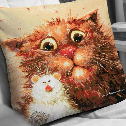 Кошки-мышки - наволочка гобеленовая