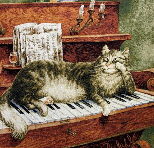 Теплые клавиши - наволочка гобеленовая