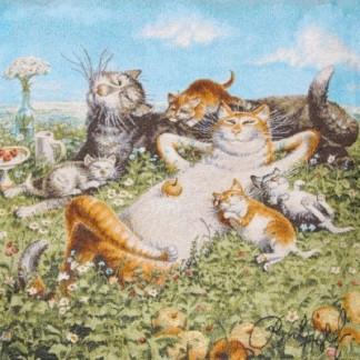 Земляничное лето - наволочка гобеленовая